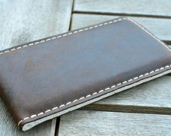 Galaxy S8, Galaxy S8+ Leather Sleeve  - PUMPKIN, Organic Leather