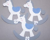 Rocking Horse, its a boy, its a girl, Paper Piecings, Baby Shower, Gray, Horse, Nursery, Party Decor, Card Toppers, Baby Banner, Favor Tags