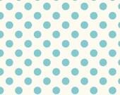COUPON Code Sale - FAT QUARTER - Riley Blake, Le Creme Medium Dots, Aqua Polka Dots, 100% Cotton Quilt Fabric, Aqua and White Fabric