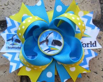 Sea World Shamu Inspired Custom Boutique Hair Bow