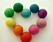 Find Your Happy Place colorful 2cm felt ball pack of 50