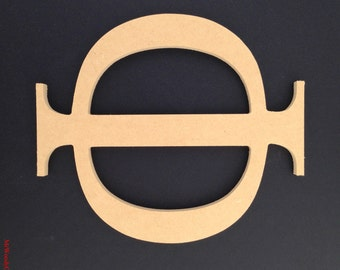 """12"""" or 16"""" Sorority Greek unfinished wooden letter 1/2"""" thick ready to paint. Made in USA. 1-15"""