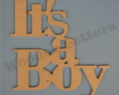 It's A Boy - shower, gift, new mother, monkey, anchor