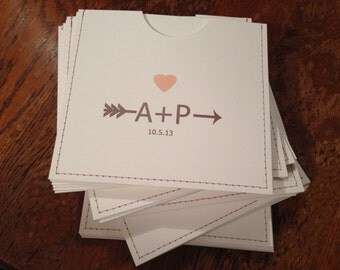 personalized  cd sleeve wedding favor ANY COLOR {pack of 30}