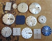 Vintage Antique Watch  Assortment Faces - Steampunk - Scrapbooking Q99