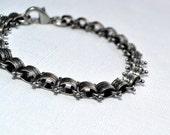 Men's Spike Chain Bracelet