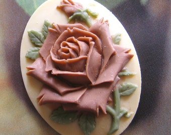 40mm - Large Rose cabochon/cameo(CA814-A)