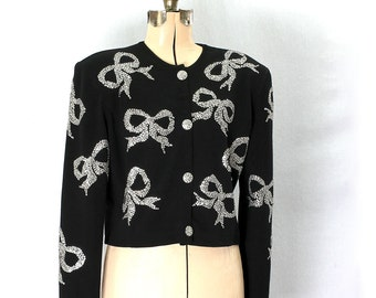 Vintage 80s All-A-Glitter Knit  Jacket