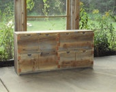 "Reclaimed Wood look Dresser Old Barn Wood Look 48 wide X 24"" Grey Brown TV Cabinet Entertainment Center bookcase Primitive Storage Bench"