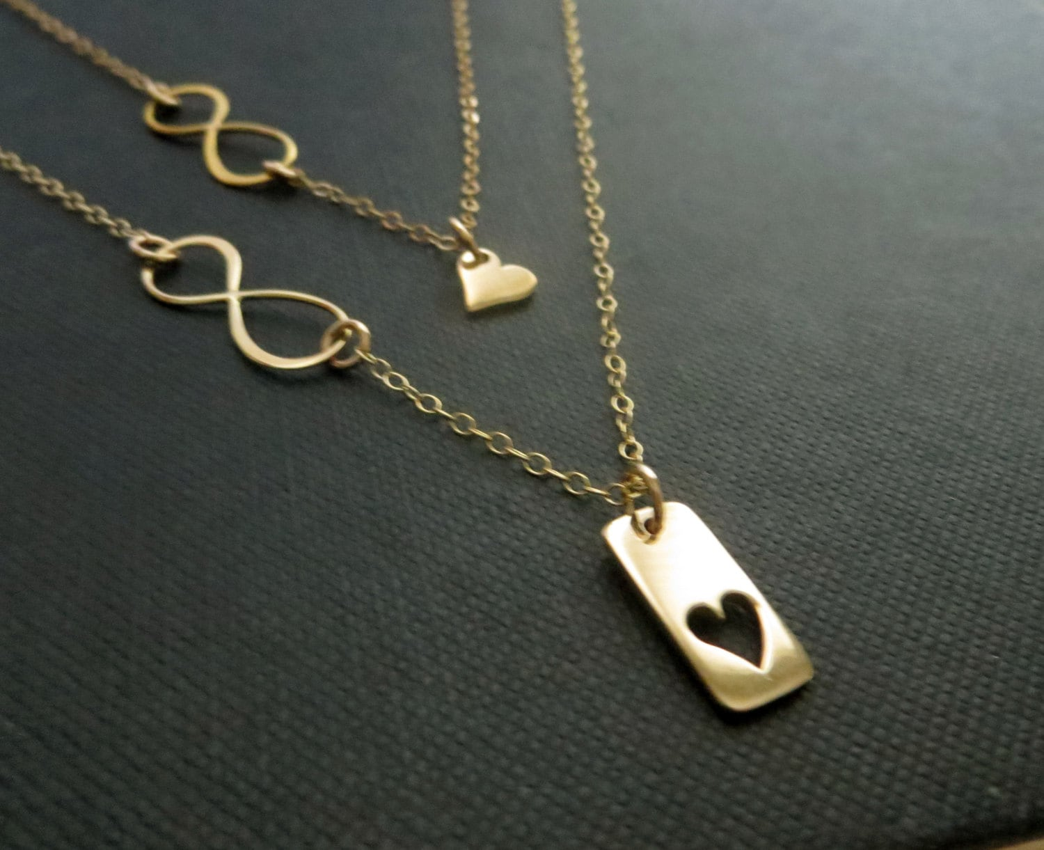 infinity heart necklace mother daughter jewelry mother. Black Bedroom Furniture Sets. Home Design Ideas