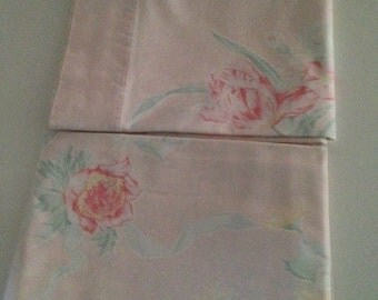 Pretty and pink set of pillowcases