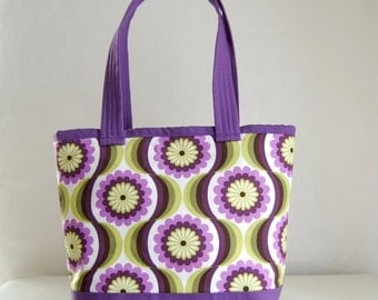 Purple Pearl Fabric Tote Bag - READY TO SHIP