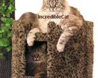 HIGH END Cat FURNITURE. 4' High Boulder, Best Cat Beds, Designer Cat Tree, High End Cat Condos, Modern Cat Tree, Majestic Boulder 4F2BBg