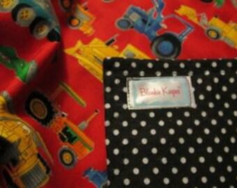 Truckin' - Flannel Lined Baby Blankie