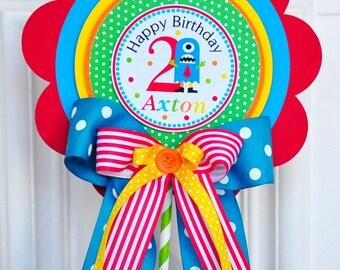 Little Monster Centerpiece, Deluxe Birthday Centerpiece, Little Monster Birthday