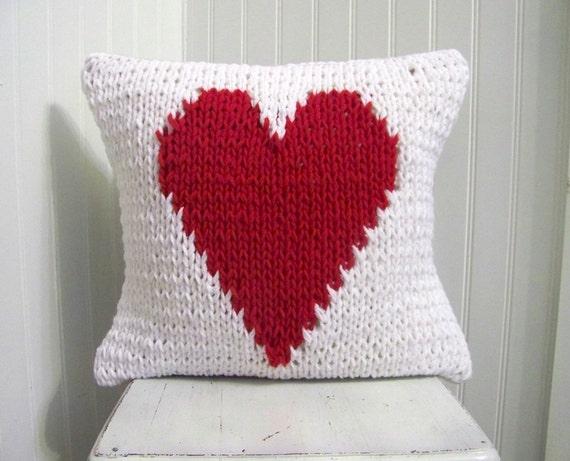fr listing  coeur en tricot oreiller valentin