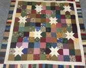 "Thimbleberries Star Lap Quilt 69"" x 69""  FREE SHIPPING"