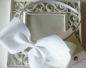 INVENTORY BLOWOUT SALE----Hair Bow U-Shape Satin Headband----White----Ready to Ship----