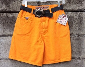 Joujou Denim Shorts Vintage 1980s High Waist Waisted Deadstock
