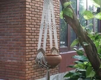 Two arms Macramé Plant Hanger Tiara