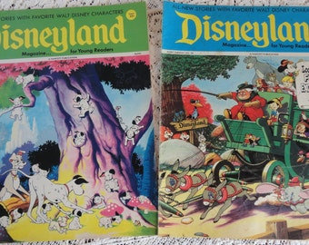 Walt Disneys Disneyland Magazine August 1972 Mickey Mouse Pinocchio Dalmations Jungle Book in 2 Issues