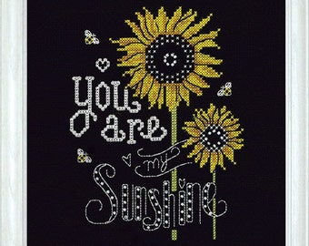 Design Works Crafts - You Are My Sunshine 2889, Counted Cross Stitch Picture Kit