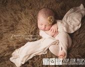 RTS Newborn Girl Photography Prop, Gardenia Pink Lux {Luxury} Stretch Knit Newborn Baby Wrap Photo Prop, Baby Props, Posing Wraps, Girls