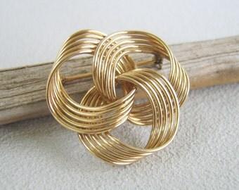 Vintage Gold Filled Knot Brooch Rhythm