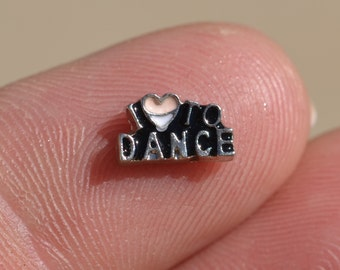 Memory Locket I Love to Dance Charm FL317