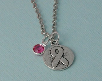Hope Necklace, Breast cancer necklace, Awareness necklace