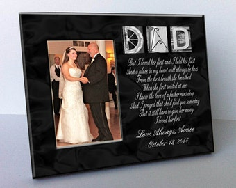 """Dad Architectural Name Alphabet Letter Art Personalized Black and White 8""""x10"""" Frame with a 4""""x6"""" Opening"""