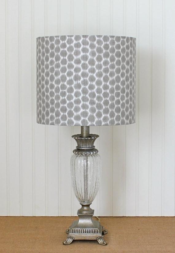 Grey Dotkat Drum Lamp Shade Lampshade Pendant Modern Polka Dot