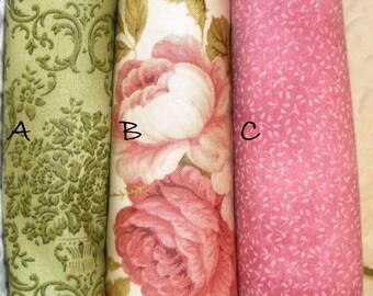 Shabby Chic, Roses fabric , Fat Quarters