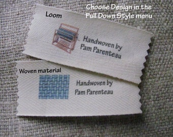 """Personalized Weaving labels=Large size-1.5"""" x 3.5"""""""