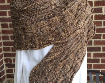 Traveling Leaves Shawl Knitting Pattern