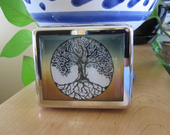 Tree Of Life 8 Day Pill Box with Mirror