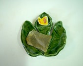 Green fig Leaf Spoon Rest