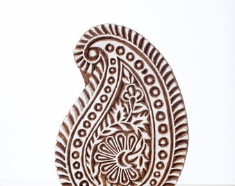 Hand carved wood stamp 296