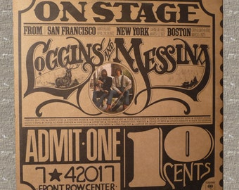 Loggins and Messina, On Stage, vintage 1974, record album, music LP, vintage collectible,album,cover art,Columbia Records,vintage rock music