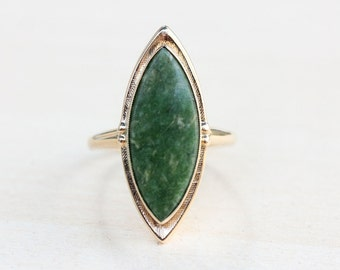 Green Jade Ring Etsy