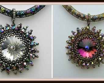 Galaxy Pendant Pdf Tutorial Jewelry Making (INSTANT DOWNLOAD)