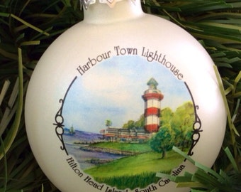 Harbour Light at Hilton Head, South Carolina Christmas Ornament