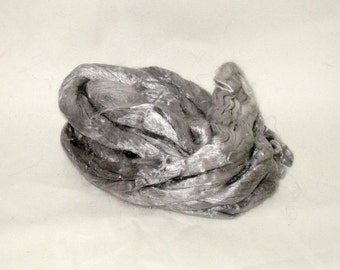 Mulberry Silk--Silver 1/2 oz add in for batts and art roving