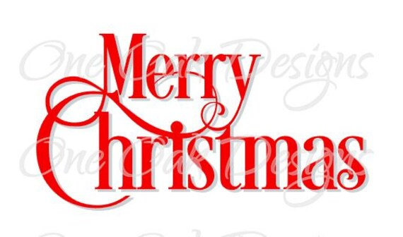 merry christmas typography svg files pdf dxf png for