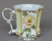 Hand Painted Yellow RoseTea Mug