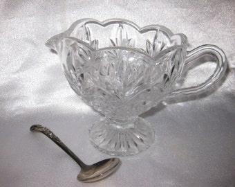 Shannon Lead Crystal gravy Boat Pitcher