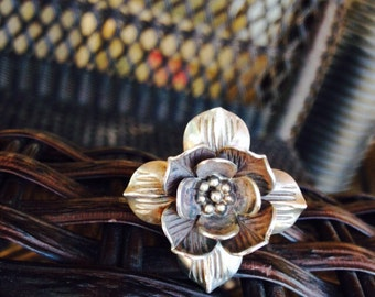 Fine Silver Flower Ring