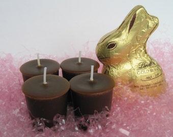 CHOCOLATE BUNNY (4 votives or 4-oz soy jar candle)