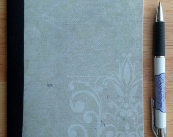 Handmade journal, notebook or sketchbook - Unlined, white pages