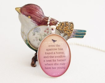Psalm 84 quote pendant, mother's day, quote necklace, new mom gift for mum
